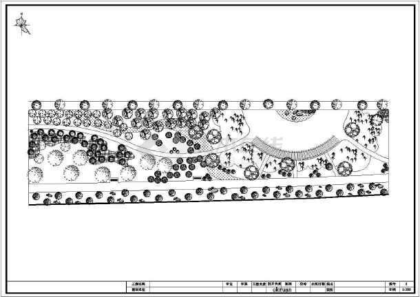 某图纸绿化工程施工图(共11张河道)灭火器图标图纸用图片