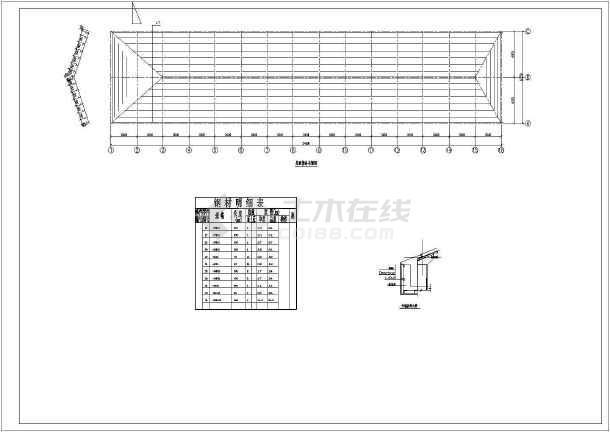 某三维详图节点构造图纸(共6张图纸)彩钢混合机屋面图片