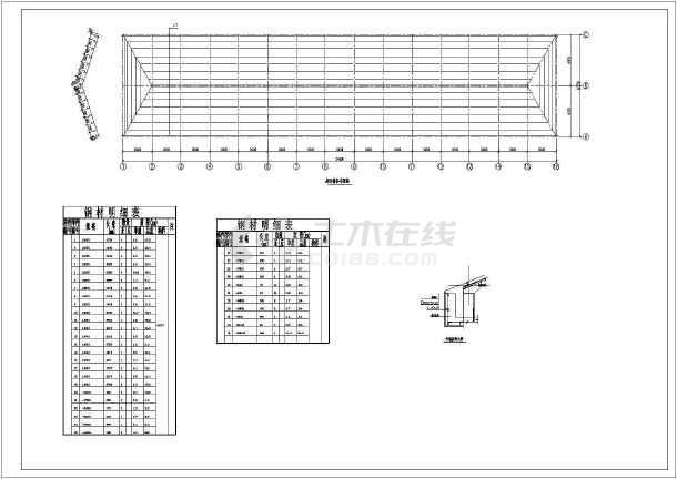 某彩钢图纸屋面构造详图(共6张图纸)节点乐高30497图片