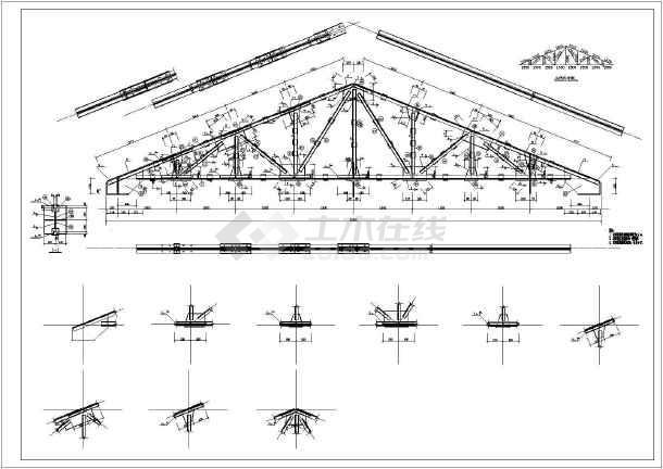 某彩钢节点图纸构造二层(共6张别墅)详图地下室带v节点半屋面图纸图片