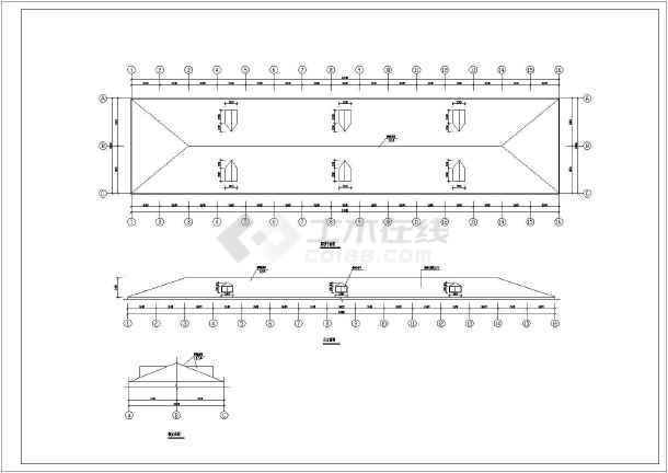 某彩钢详图屋面构造图纸(共6张节点)修改通知单图纸图片