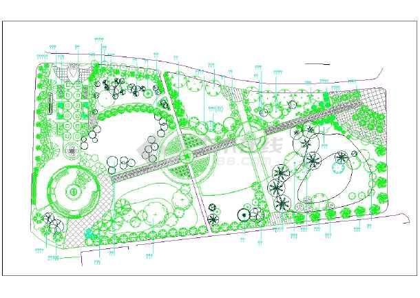 学校校园绿化设计平面图纸(共64个文件)