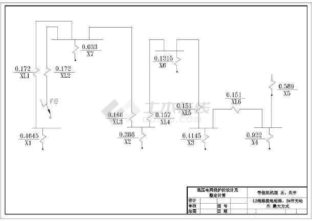 继电保护毕业设计cad图纸豆图纸美拼拍图片
