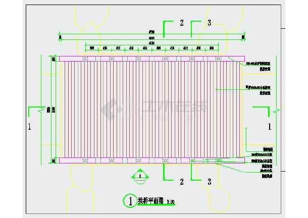 木景观CAD拱桥施工图详图cad外部自己设置块图片