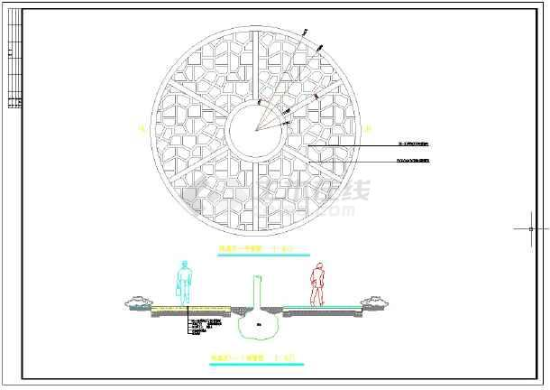 某镇政府全套绿化工程CAD精华图纸图纸景观妖纹图片