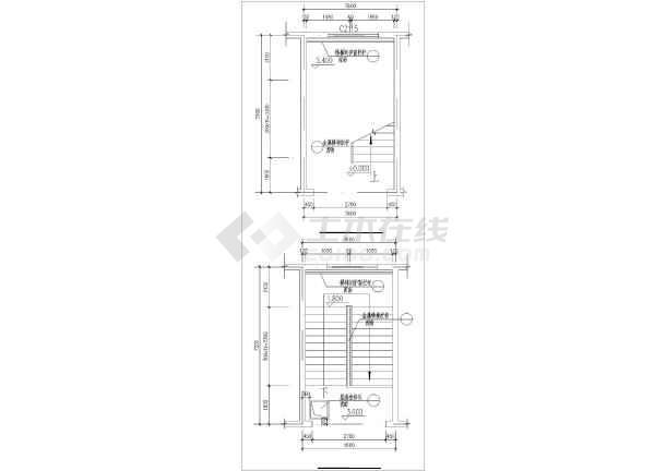 两结构8m砖混层高图纸教学楼建筑设计CAD图轮机洗工地v结构小学图片