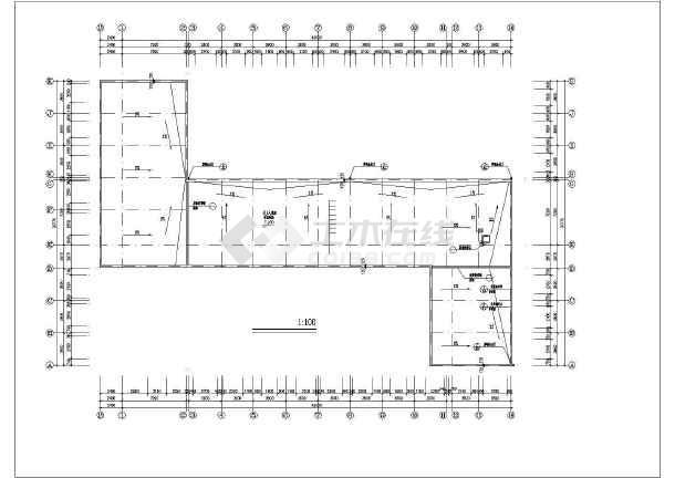 两小学8m砖混图纸结构教学楼建筑设计CAD图广联达1办公楼层高图片