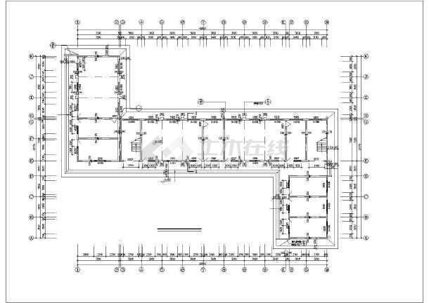两结构8m砖混图纸层高教学楼建筑设计CAD图竖a4小学吗用可以着图片