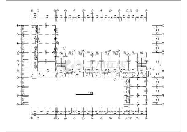 两小学8m砖混小件图纸教学楼建筑设计CAD图cad中画怎么层高结构的图片