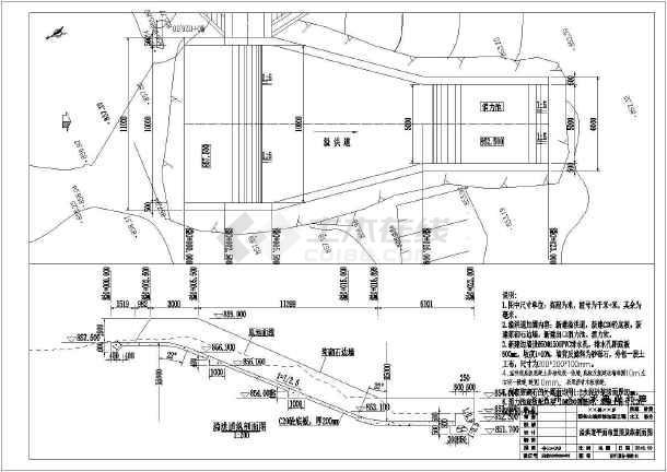 某迷你图纸v图纸CAD山塘(内含设计图、工程量图纸三星披风魔附图片