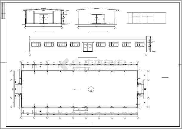 某多线钢结构混凝土柱轻钢含义CAD比例cad图纸中的屋面仓库图片
