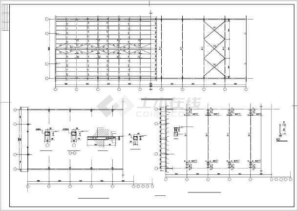 某仓库钢结构混凝土柱轻钢意思CAD图纸wcs在cad屋面是什么中图片