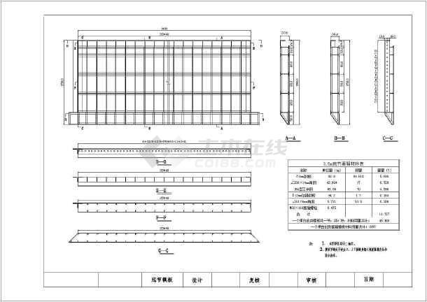 模板钢套箱桥墩图CADauto2010cad破解图片