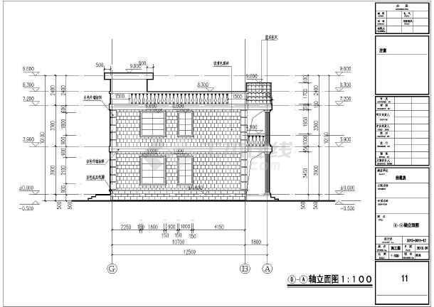某两层框架结构自建房设计图 建筑面积:320平方米 占地面积:160.