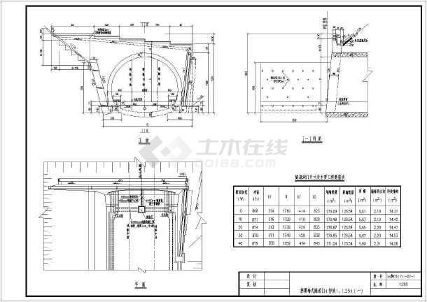 挡翼式隧道洞门CAD图(有碴)最强-玉兰戏花蝶十字绣花图纸图片