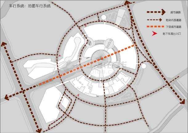 [方案][福建]多层双圆环性商业建筑设计方案文本(知名