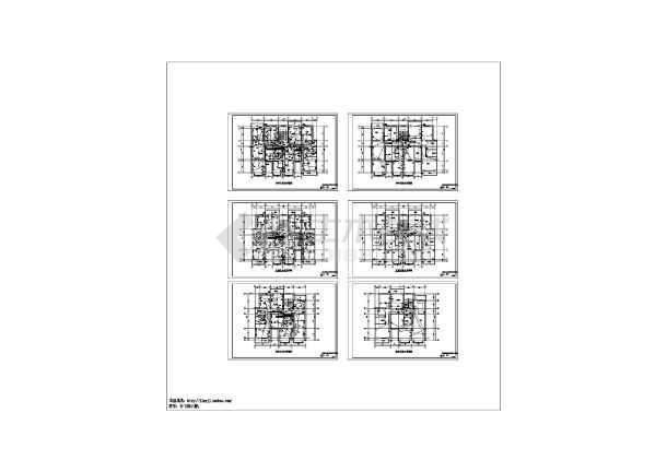 某6层拆迁用房砖混结构6单元102户住宅电施图纸