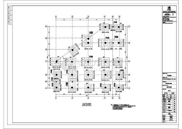 新疆某地休闲风情街商铺楼结构图