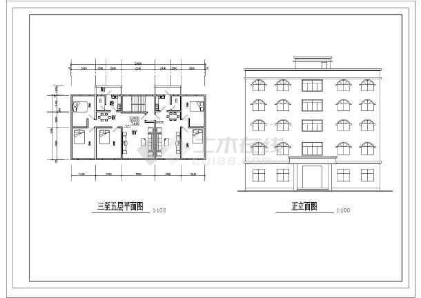 58米 5层1006.6平米办公综合楼建筑方案