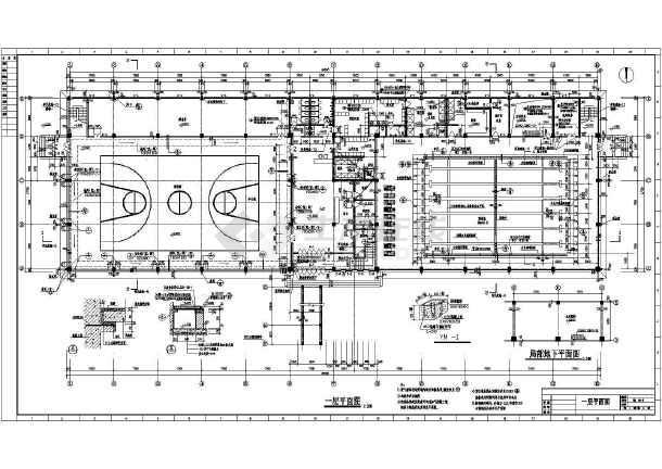 体育馆建筑全套设计施工CAD图纸调节池cad图纸图片