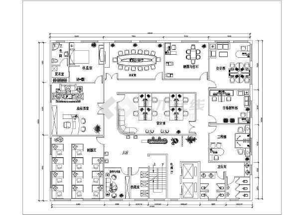 1张小型建筑设计v布局布局图纸CAD空间图电子线cad平面图片