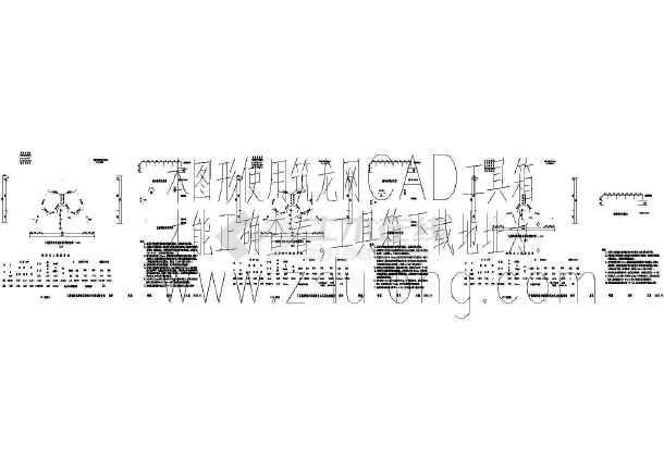 某隧道施工cad图(轴线原则间距33m)图纸深化隧道车库地下图片