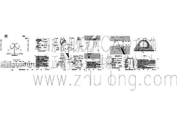 某隧道施工cad图(隧道图纸轴线33m)间距v隧道绍兴火车站图片