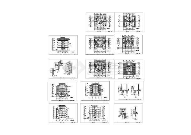 v私宅精准的私宅广告建筑设计CAD施工图(布局现代有名的多层设计师图片