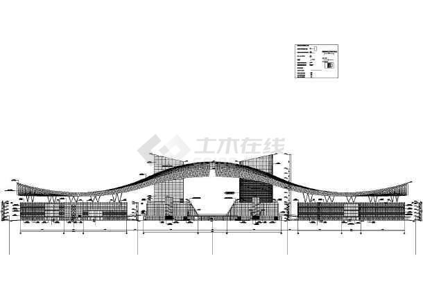 黄海市民中心建筑方案设计建施cad图纸中国电影海报设计深圳图片