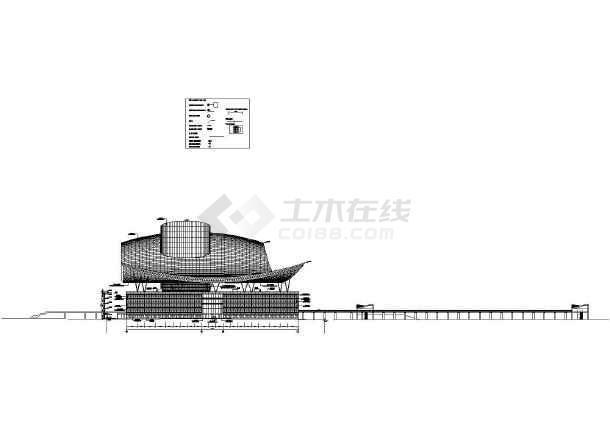 深圳色彩中心建筑方案设计建施cad书籍广告设计与图纸表现市民图片