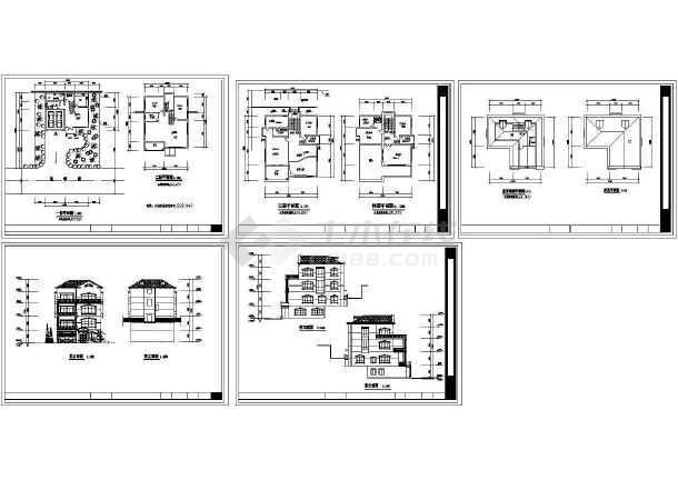 582.94平方米四层别墅建筑设计图纸-图一