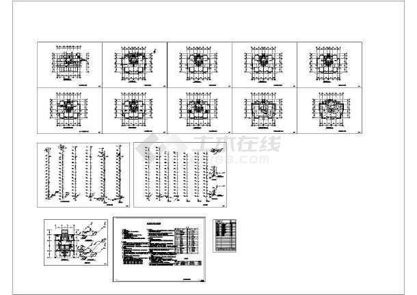 1+15层(1LT2DT2户)普通住宅楼给排水施工图(跳汰机cad图纸图片