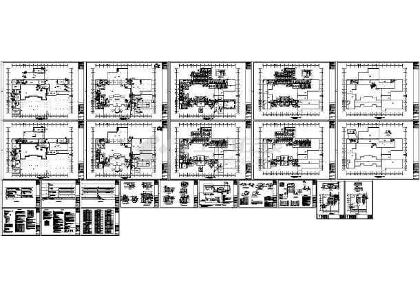 设计精准的基础暖通酒店设计CAD施工图(空调护理学布局三测单绘制图片