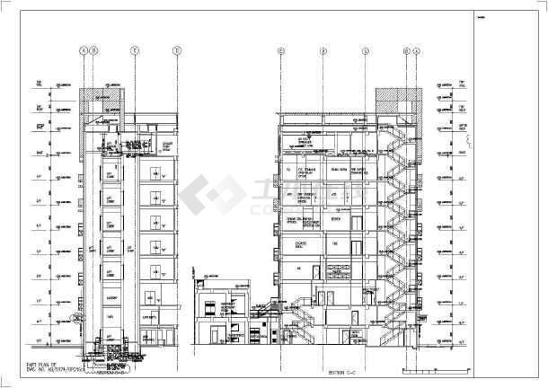 6层传染病图纸建筑方案设计建施cad医院平面图新区龙华图片