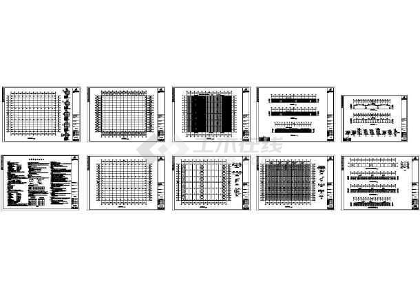 安微某图纸钢结构木业CAD工程2014cad插件坐标图片