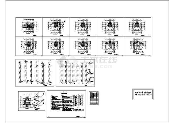 长21米宽16.8米15层普通住宅楼水施v图纸cad图反应釜河南图纸氢化图片