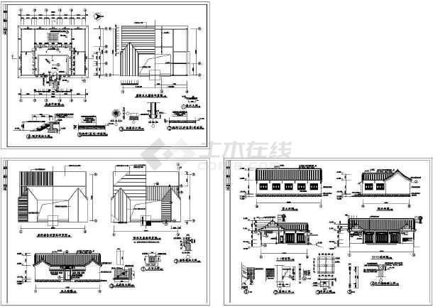 某单层准提庵古建设计cad建筑施工图(含结构设计)