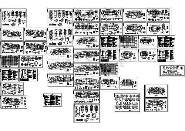 武汉某组团住宅结构设计cad图纸组织设计v住宅图片