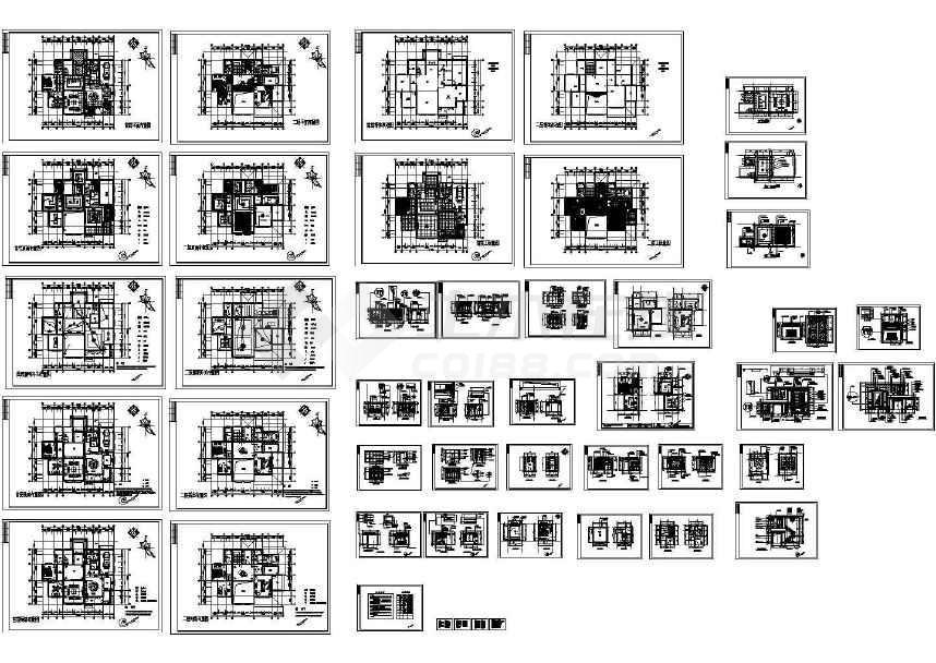 某整套欧式别墅设计装修图纸(含效果图)