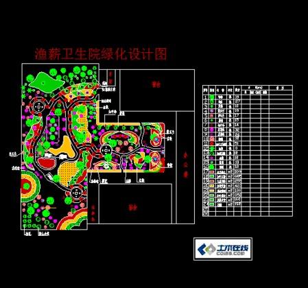 某卫生院绿化设计图图片