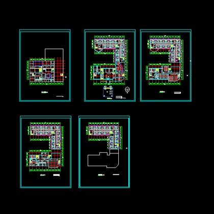 四层宿舍框架结构图 类别: 住宅建筑  某设计院设计的五星级酒店,功能