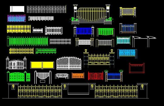 33电动伸缩及围墙cd图