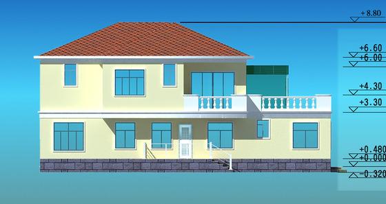 新型农村二层半别墅设计图纸展示
