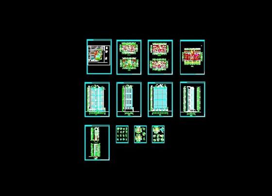 20层塔式高层户型图