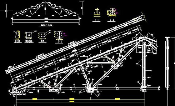 三角形芬克式屋架