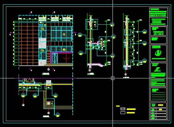 一号厂房平立面图