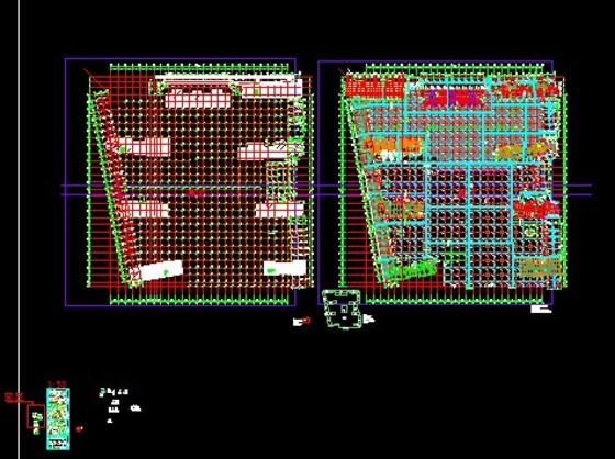 某住宅小区大型车库全套结构施工图