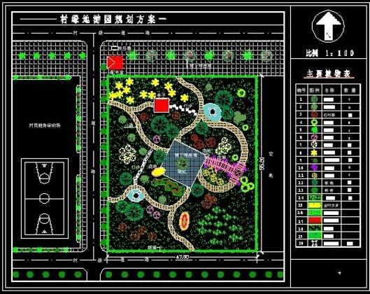 厂区绿地平面图设计手绘