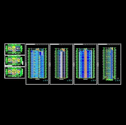 一梯三户24层住宅平立剖面图图片
