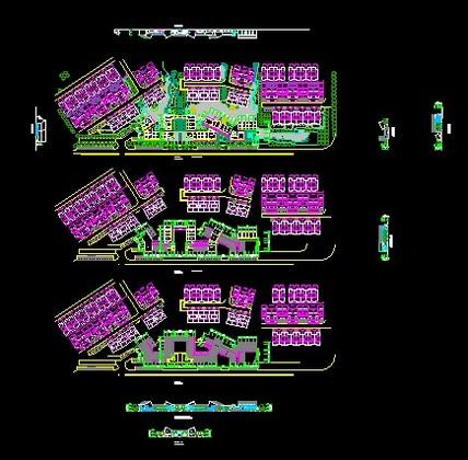 万科五层建筑图纸幼儿园建筑设计方案仿古商业街cad